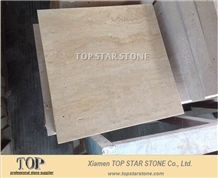 Unfilled Turkey Cream Travertine Tile
