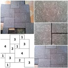 Active Gray French Pattern Slabs & Tiles, Active Gray Marble Slabs & Tiles
