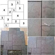 Tg Gray Marble French Pattern Slabs & Tiles, Indonesia Grey Marble