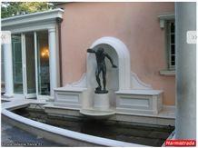 Bianco Avorio Limestone Carved Wall Fountain