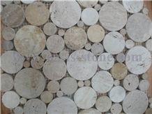 Circular Guangxi White Marble Mosaic