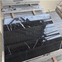 Black Marquina,China Marquina,China Nero Marquina,Negro Bilbao,Black Markina,China Black and White Marble Plinth,Floor Tile & Wall Tile, Flooring Covering Tiles and Wall Covering Tiles Panels