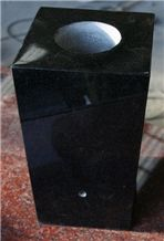 Black Absolute Polished Tapered Vases