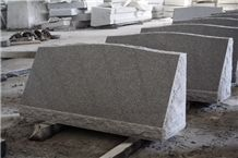 Light Grey G633 Polished Cemetery Slant Marker Monument