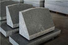 Light Grey G633 Polished Slant Marker Tombstone & Monument