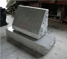 Light Grey G633 Polished Slant Marker Tombstone