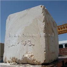 Bianco Coral Marble Block, Iran White Marble Block