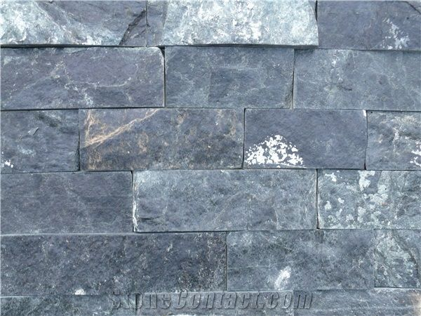 Blue Gray Gneiss Natural Bricks Stone Cladding From