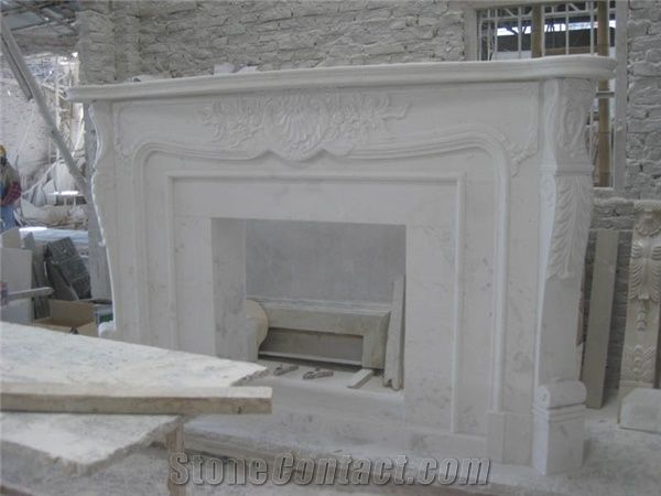 Ariston White Marble Fireplace Top Quality Best Price Attractive
