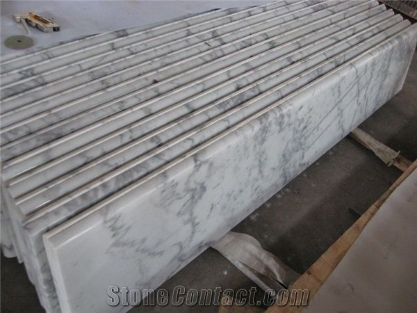 Guangxi White Marble Stairs Steps Carrara White Marble