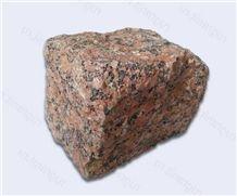 Omelyanivske Granite, Maple Red Granite Chopped Cobble Stone