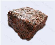 Rosso Toledo Granite-Emeljanov Granite Chopped Cobble Stone