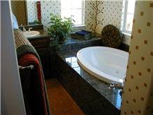 Tropic Brown Honey Granite Bathtub Surround
