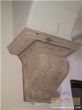Tobacco Brown Cantera Carved Corbels