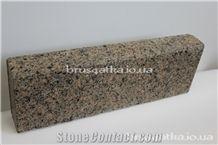 Lx200x100 cm Brown Multicolour Mezhyrichka Kerbs, Mezhyritske Granite Kerbs