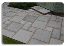 Indian Sandstone Kandla Grey Paving Stone Pattern