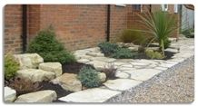 Purbeck Stone Crazy Paving Flagstone Courtyard
