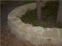 Texas Tan Sandstone Sonoma Cut Mortar, Flush Joint