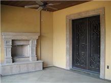 Pinon Bronze Tobacco Cantera Fireplace
