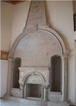 Pinon Santa Lucia Cantera Fireplace