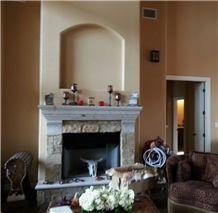 Verde Degollado Cantera Fireplace