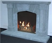 Frontier Gray Limestone Fireplace Surround
