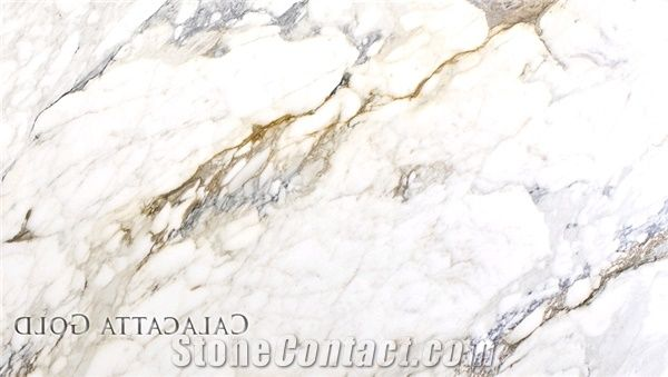 Calacatta Gold Marble Tiles Slabs Italy White Marble From