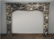 Louis Xv Period Fireplace Made Out Of Gris Sainte Anne Marble