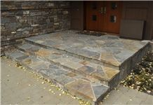 Cabinet Gorge Flagstone Natural Cleft Stair, Steps