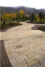Peppercorn Granite Sawn and Combed Patio Pavers, Walkway Pavers