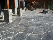 Ocean Pearl Stone Flagstone Patio