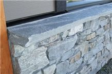 Ocean Pearl Stone Split Top, Sawn Cut Standard Capping, Wall Parapets