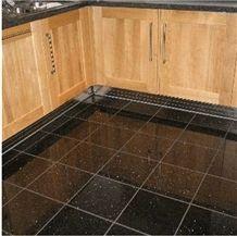 Black Galaxy Granite Floor Tiles, Black Polished Granite Floor Tiles, Slabs India