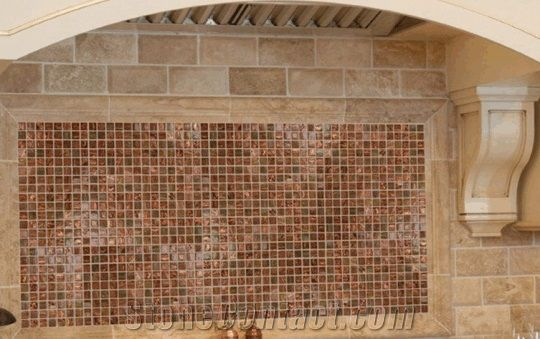 Copper Glass Mosaic Backsplash Design Backsplash Mosaic From United