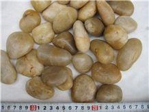 Polished Yellow Pebbles,A Grade Natural Pebbles