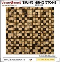 23*23 Dark Emperador and Light Emperador Polished Marble Mosaic Tiles