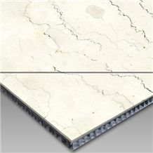 Aluminum Honeycomb Panel Back White Marble Top, Super Thin Stone Honeycomb Panels