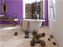 Travertine Light French Pattern Create an Elegant Effect and Warm Atmosphere in Your Home