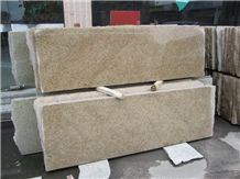 China Golden Leaf Granite Slabs & Tiles, China Yellow Giallo Diamond Granite Machine Cutting Panel Floor Covering Polished