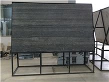 New Imperial Black Wooden Vein Marble Slab, Polished Black Slabs Tiles Machine Cutting Panel Tiles for Wall Cladding,Floor Covering