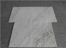 Silver River White Granite Polished Slabs Machine Cutting Tiles, White Granite Vein Cut Floor Paving Tile,Garden Stepping