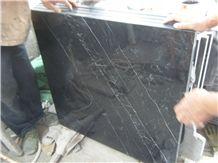 China Marquina Black Marble Slabs & Tiles