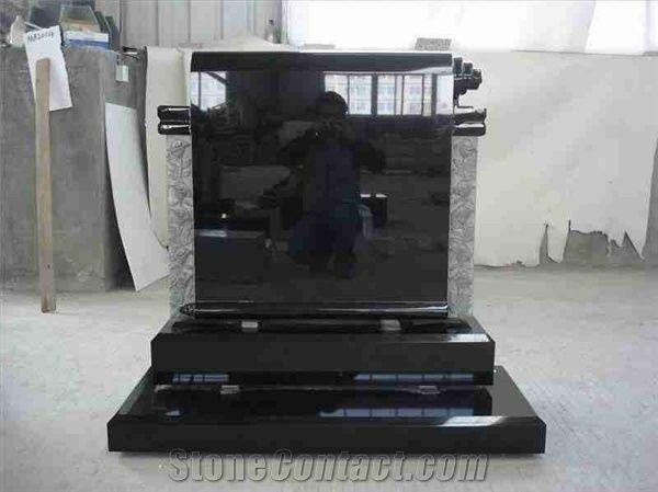 Shanxi Black Monuments Irish Style Shanxi Black Granite