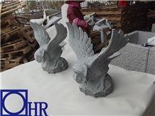 G612 Granite Owl Carving Sculpture & Statue
