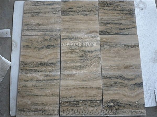 Honed Silver Grey Travertine Floor Tiles Siena Silver Grey