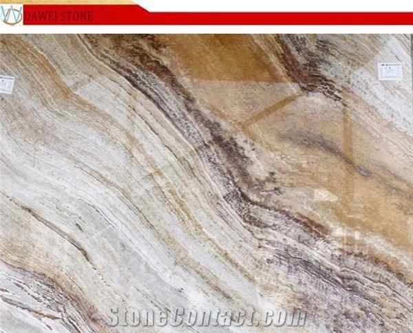 Nirvana Marble White And Brown Veins Marble Tiles Slab