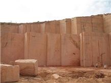 Khalvangah Travertine Blocks, Azarshahr Red Travertine