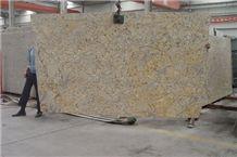 Diamond Giallo Granite Slab, China Yellow Granite