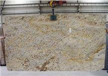 Golden Diamond Granite Slab, Brazil Yellow Granite