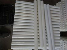 Pure White Marble Pencil Liners,China Royal White Marble Molding & Border